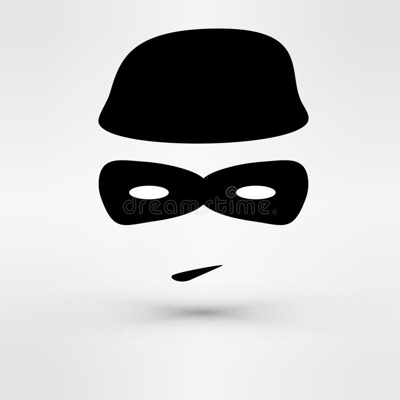 Czarny ikona złodziej wektor ilustracja wektor