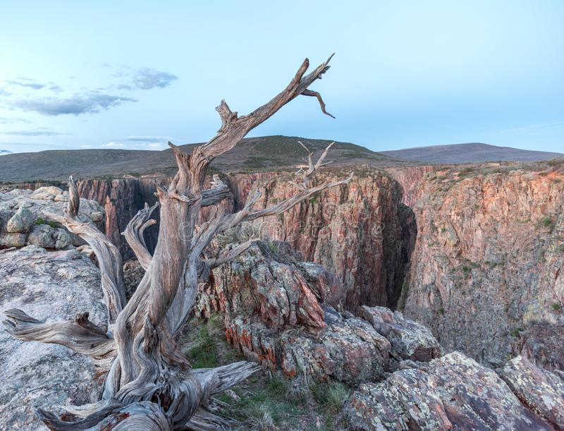 czarny jaru gunnison krajobraz zdjęcie stock