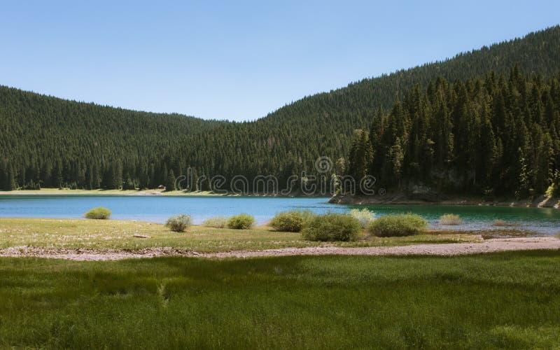 Czarny jezioro zdjęcia royalty free