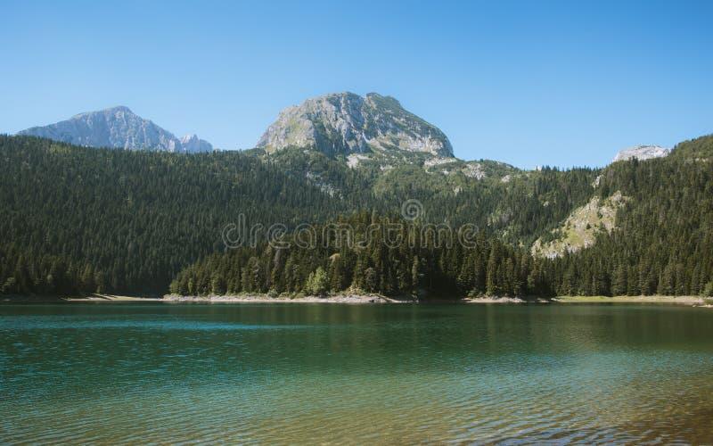 Czarny jezioro obraz royalty free