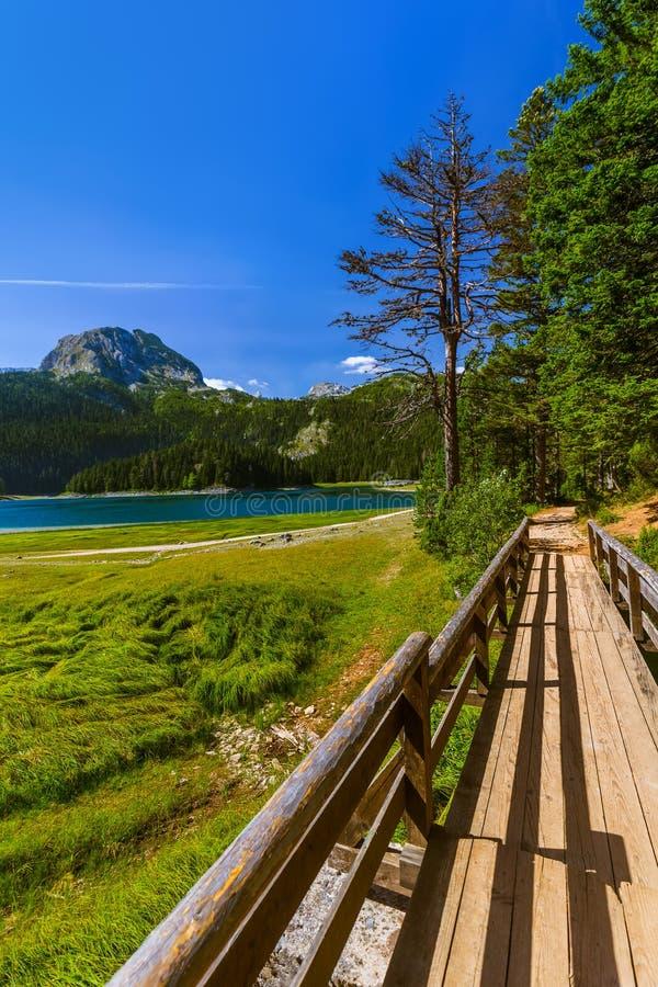 Czarny jezioro w Durmitor, Montenegro - (Crno Jezero) obrazy royalty free