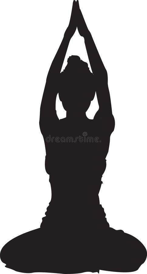 czarny jogi ilustracja wektor