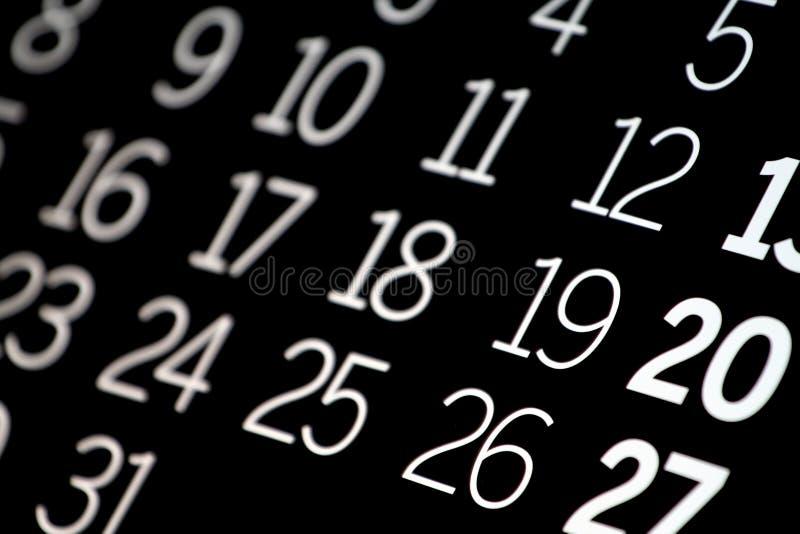 czarny kalendarz