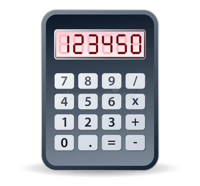 czarny kalkulator ilustracja wektor