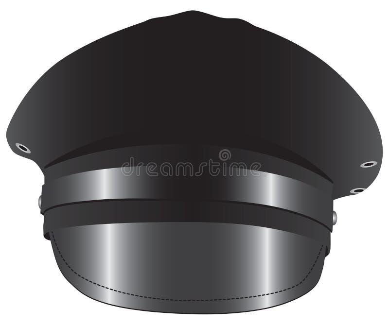 Czarny kapelusz dla kierowcy ilustracja wektor