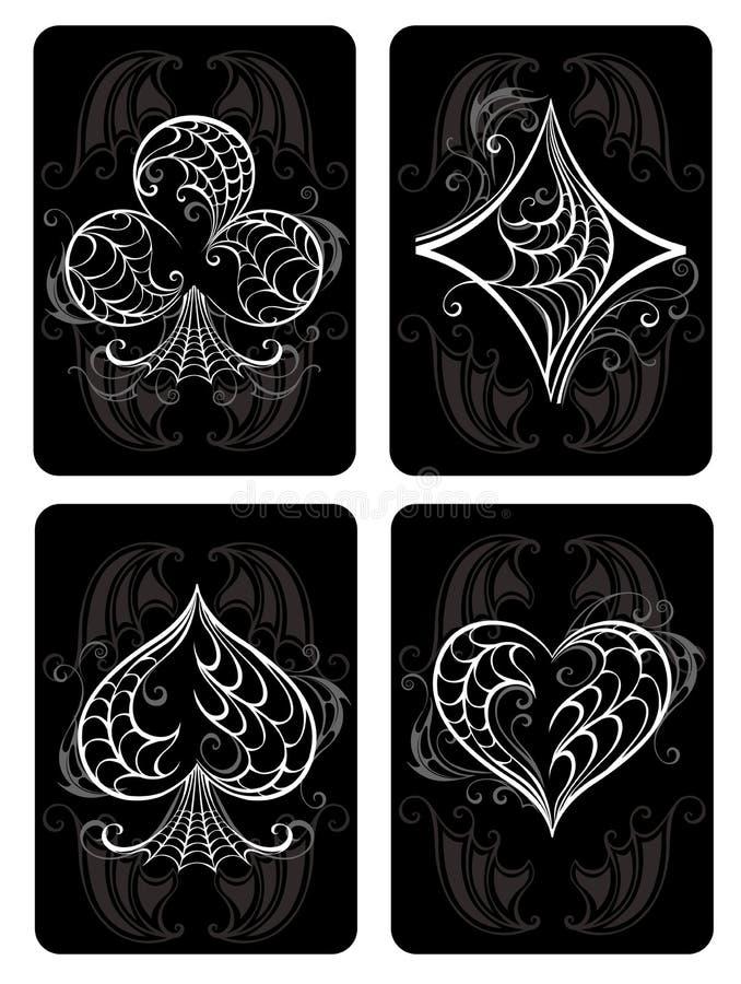 Czarny karta do gry ilustracji
