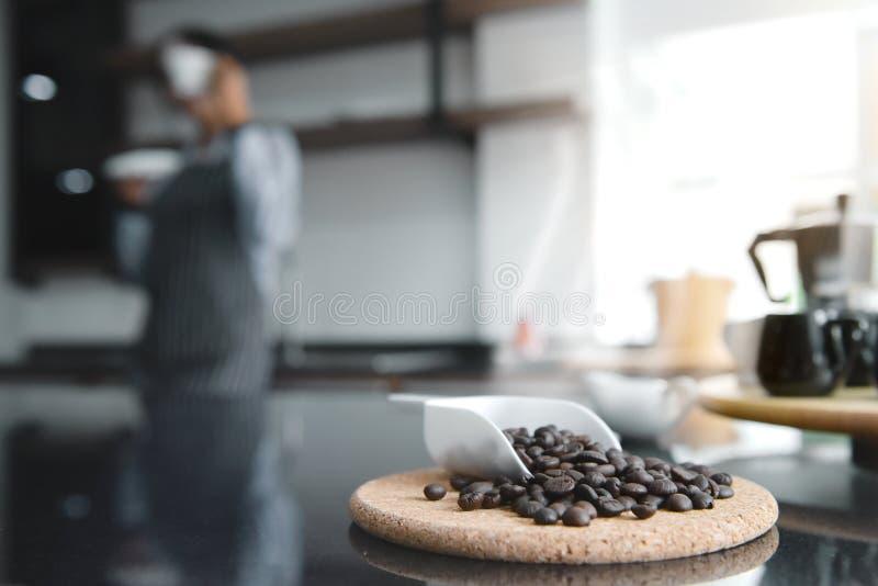 Czarny Kawowe Fasole obraz stock