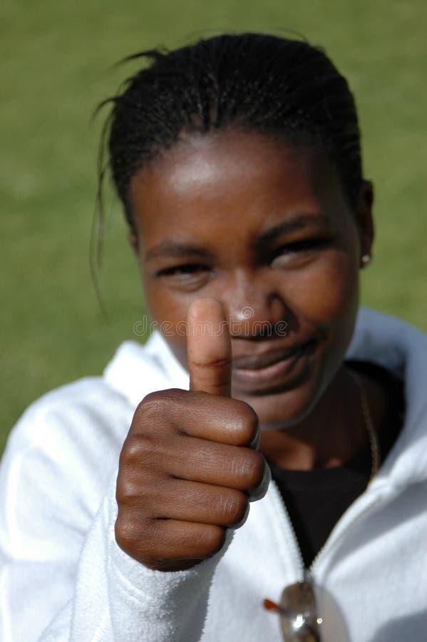 czarny kciuk. fotografia stock