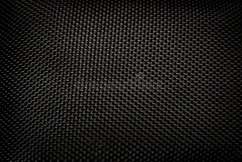 Czarny Kevlar zaszywania wzór fotografia stock