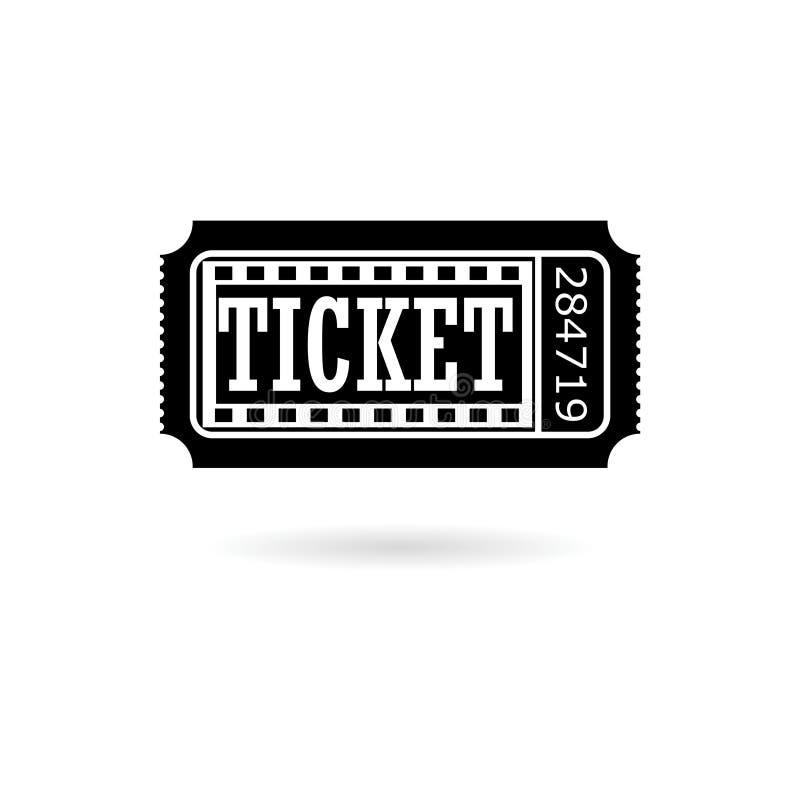 Czarny Kinowy biletowy logo lub ilustracja wektor