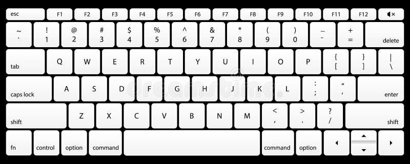 czarny klawiaturowy laptop Egzamin próbny Up wektor royalty ilustracja