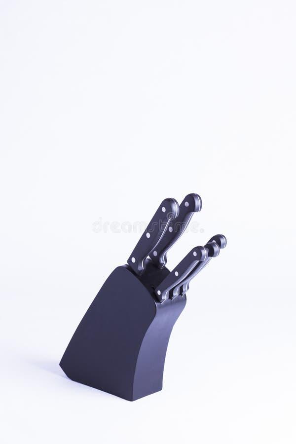 Download Czarny Knifeblock Odizolowywający Na Bielu Zdjęcie Stock - Obraz złożonej z essex, catering: 57663556