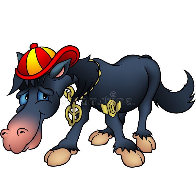 czarny koń rapu royalty ilustracja