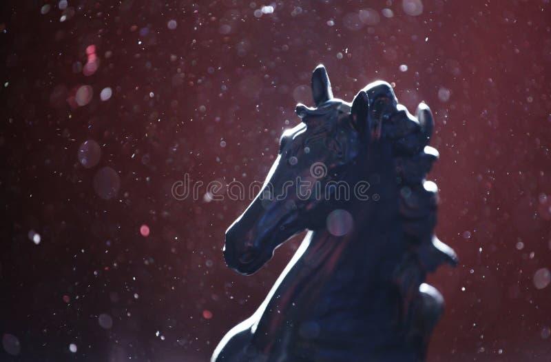 Czarny koński postać pył obraz royalty free