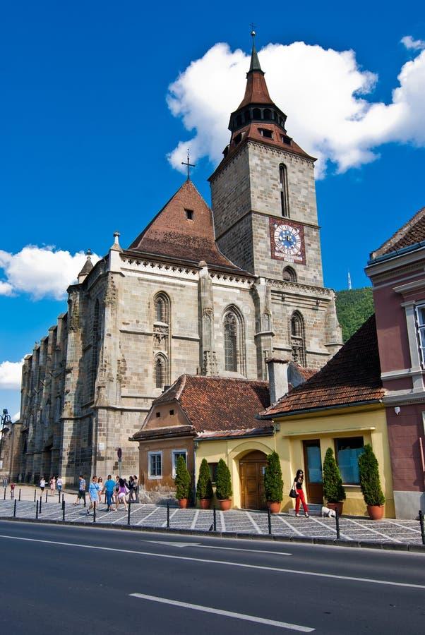 czarny kościół zdjęcie stock