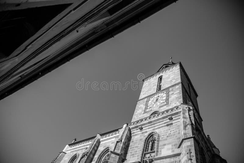 Czarny kościół Biserica Neagra Brasov Kronstadt obrazy stock