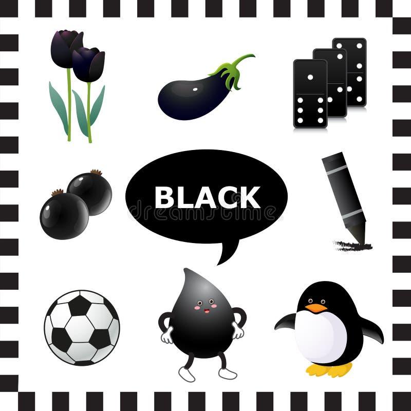 czarny kolor ilustracja wektor