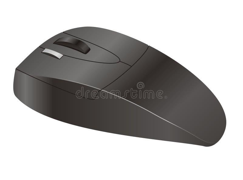 czarny komputerowa mysz obraz stock