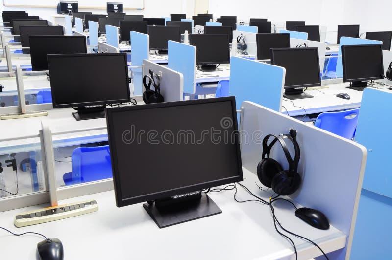 czarny komputerowego pokoju ekran zdjęcie royalty free