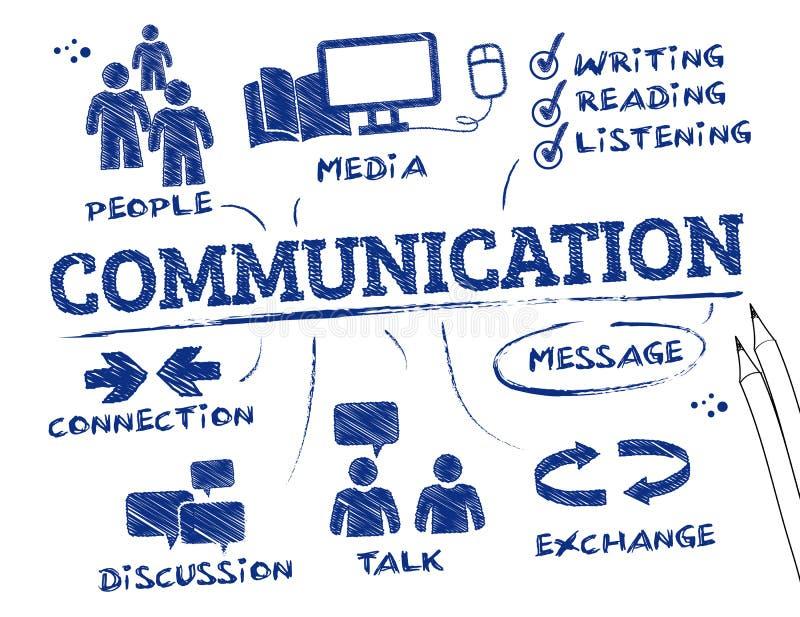 czarny komunikacji koncepcji odbiorców telefon royalty ilustracja