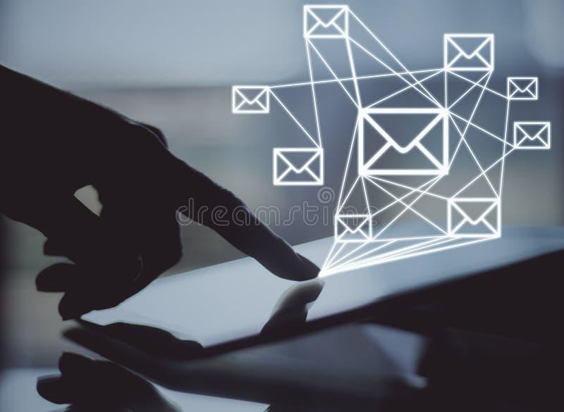 czarny komunikacji koncepcji odbiorców telefon zdjęcie royalty free