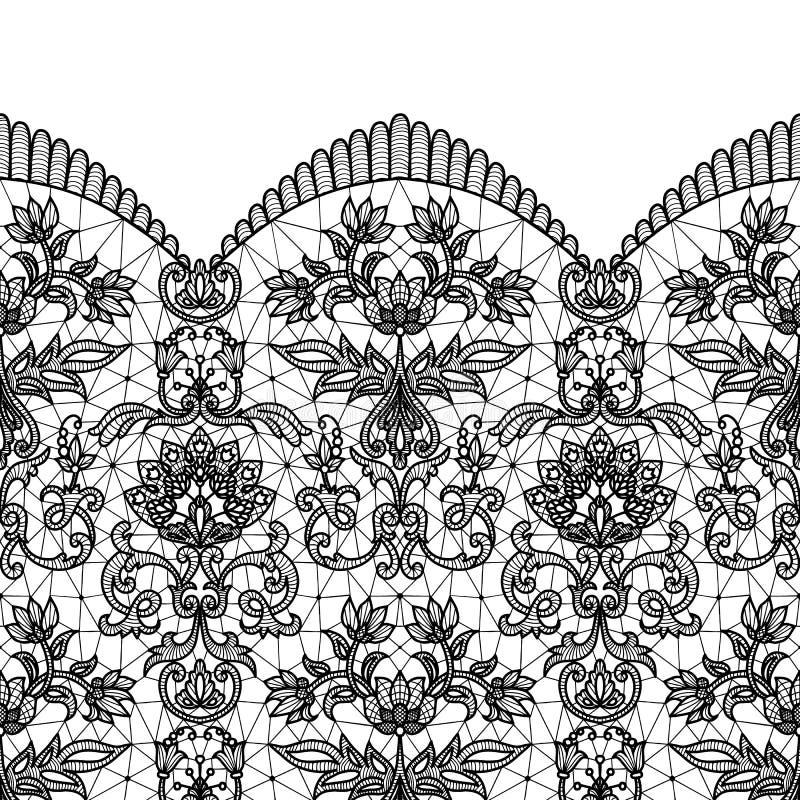 czarny koronkowy bezszwowy royalty ilustracja