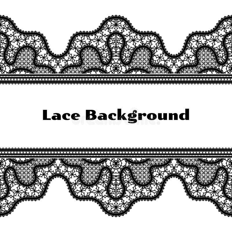 Czarny koronkowy tło ilustracji