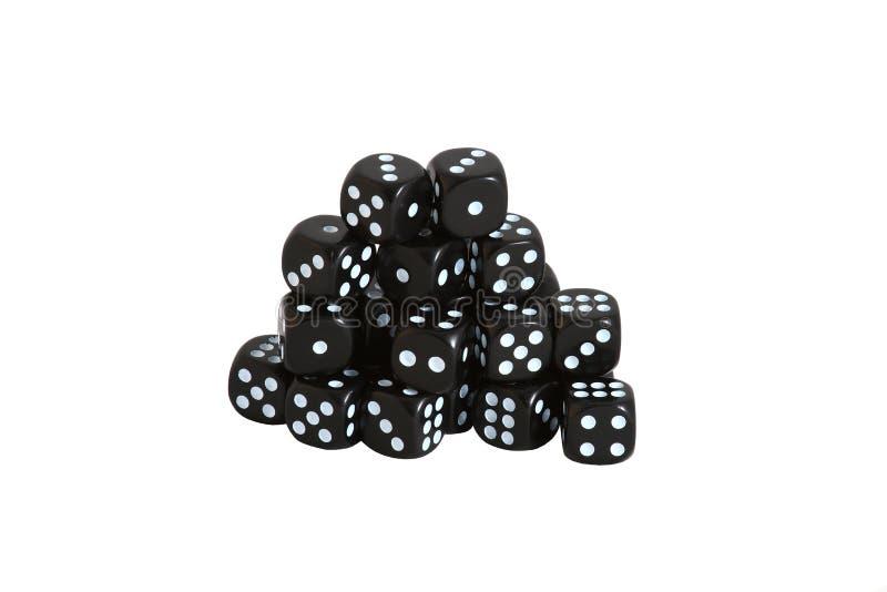 czarny kostka do gry obraz stock