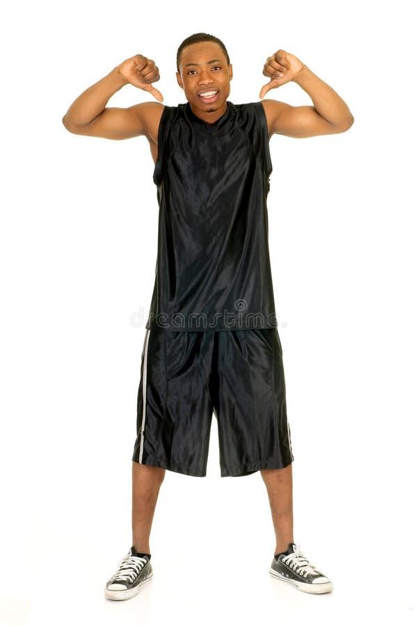 czarny koszykówka gracz obrazy stock