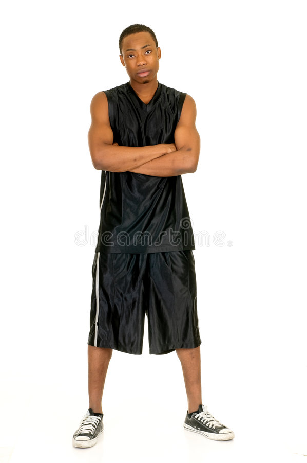 czarny koszykówka gracz obrazy royalty free