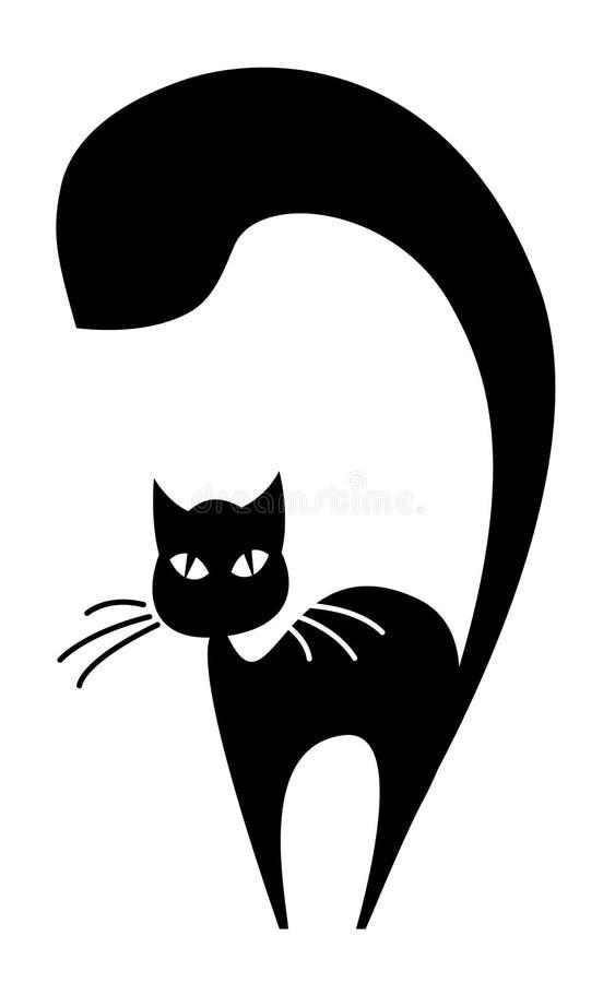 Download Czarny kot ilustracja wektor. Obraz złożonej z kresk - 28019690