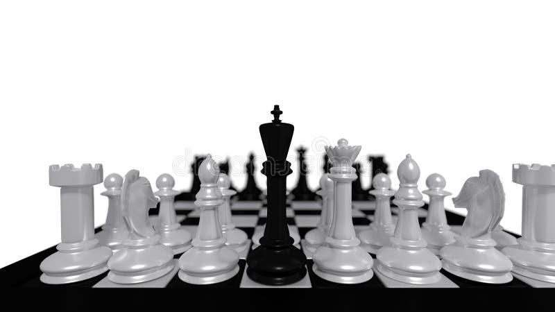 Czarny królewiątko royalty ilustracja