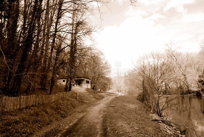 czarny krajobrazu white zdjęcia royalty free