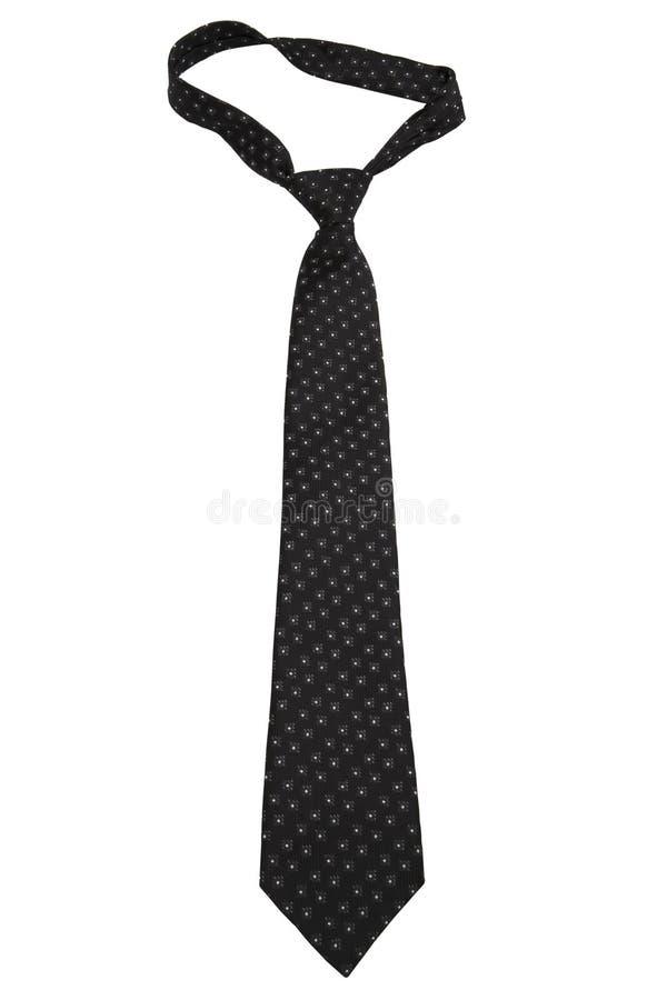 czarny krawat na fali zdjęcia stock
