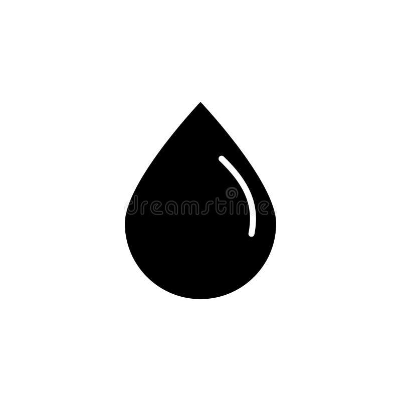 czarny kropla olej lub woda Wektoru oleju kropli ikony wektor eps10 ilustracja wektor