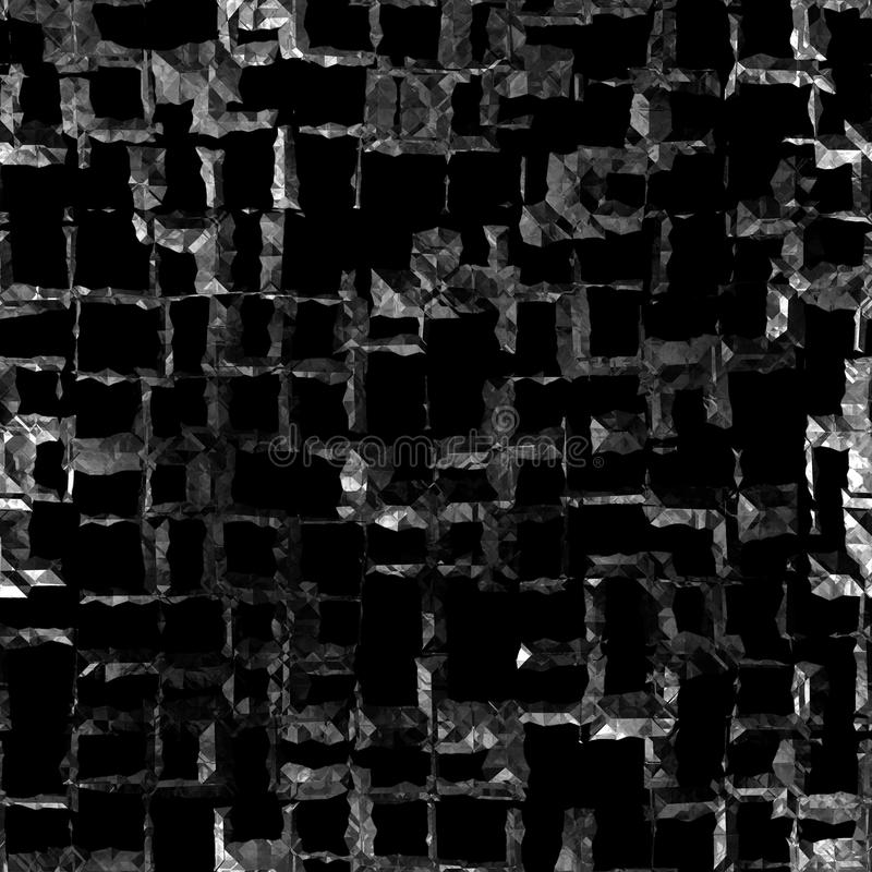 czarny krystaliczna bezszwowa tekstura ilustracji