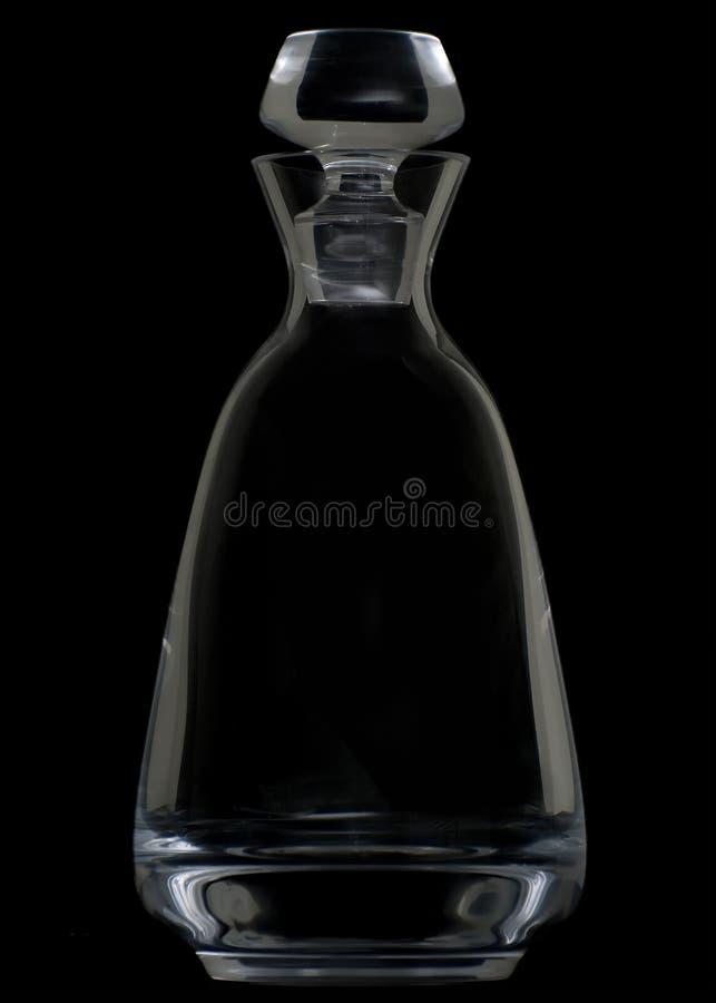 czarny krystaliczny dekantator obrazy stock