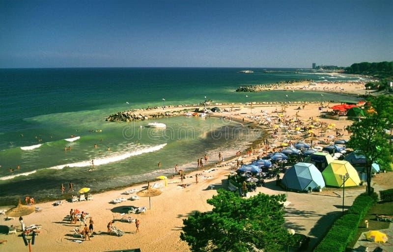 czarny kurortu plaży morza fotografia stock