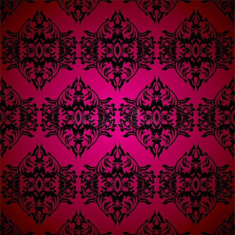 czarny kwiecisty gothic ilustracja wektor