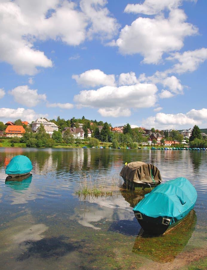 czarny lasu Germany jeziora schluchsee fotografia stock
