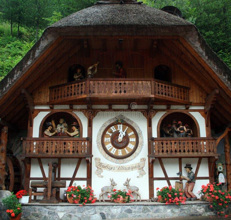 czarny lasu Germany zegarka sposób zdjęcia stock