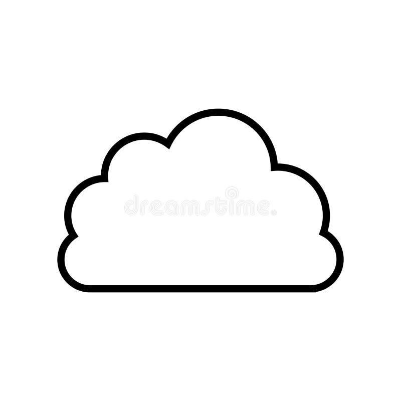 czarny linia kontur chmura w kształcie cumulus royalty ilustracja