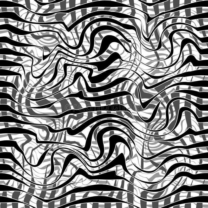 czarny linia wzór bezszwowy royalty ilustracja