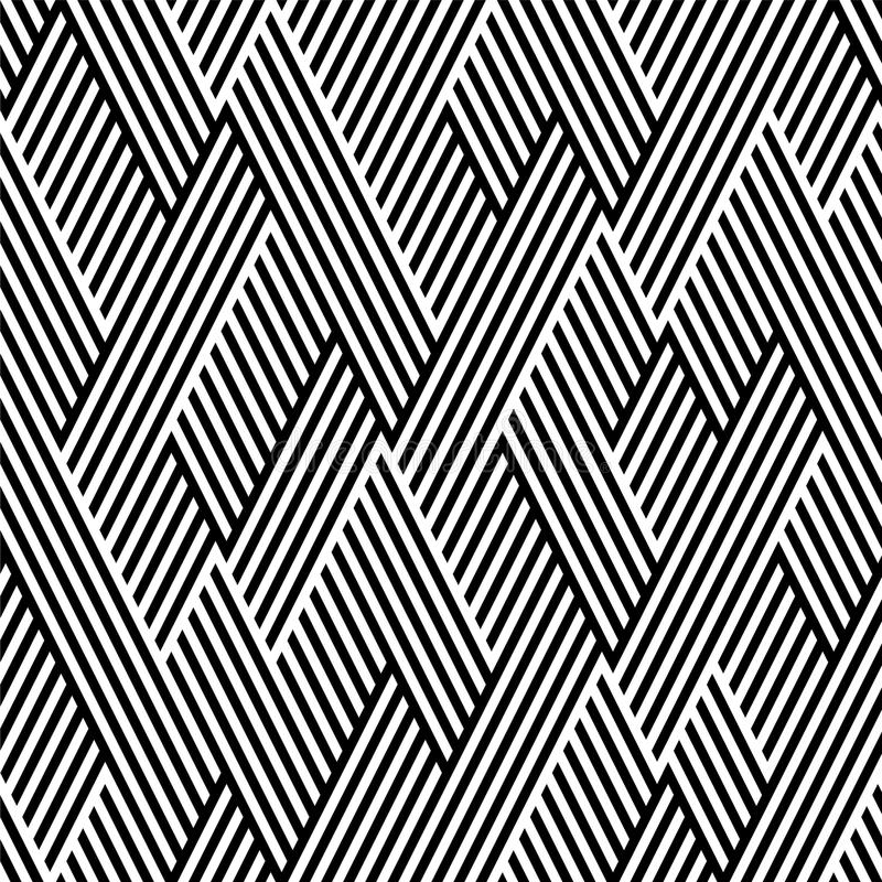 czarny linia wzoru biel zygzag royalty ilustracja