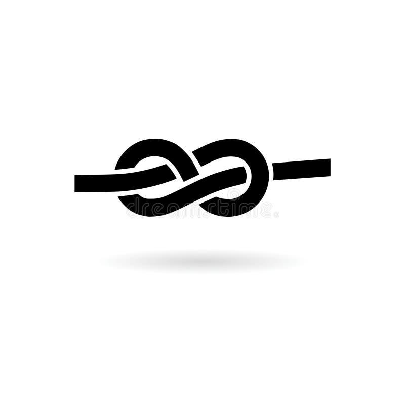 Czarny Linowy kępka logo lub ikona ilustracji