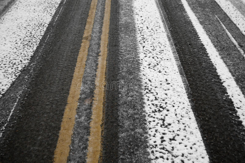 czarny lodu ulica obrazy royalty free