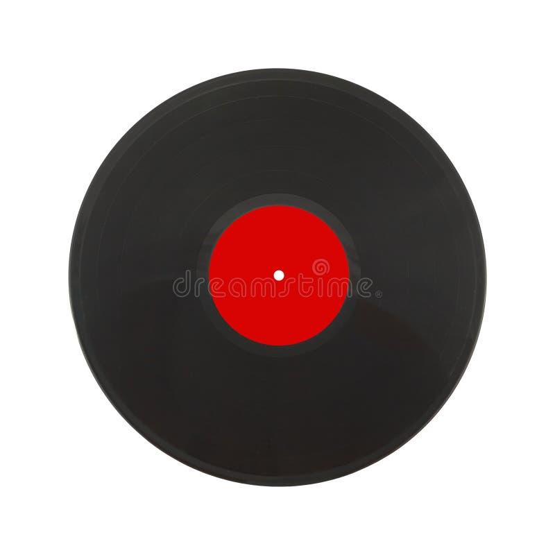 Czarny LP odizolowywający na białym zbliżeniu zdjęcia royalty free