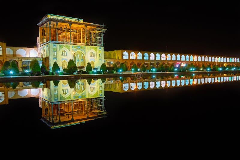 Czarny lustro Naqsh-e Jahan kwadrat, Isfahan, Iran zdjęcie royalty free