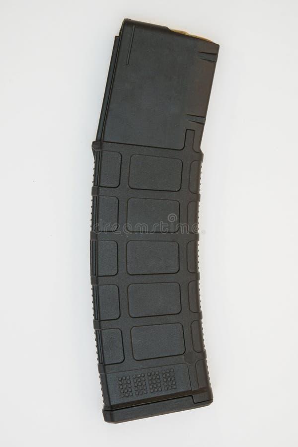 Czarny magazyn AR15 o dużej pojemności zdjęcie royalty free