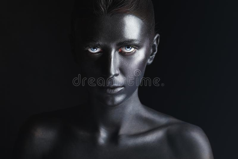 czarny makeup obrazy stock